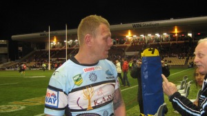 Luke Lewis after the game